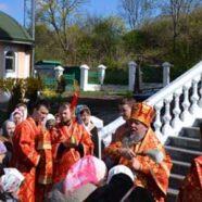 У понеділок Світлої седмиці єпископ Васильківський Миколай звершив літургію в нашому храмі
